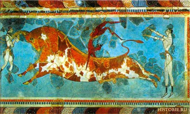 Древние цивилизации. Развлечения Минойской цивилизации. Игры с быком