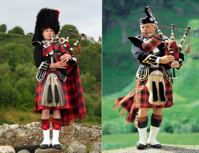 Килты, волынки, вот они - знаменитые шотландцы.