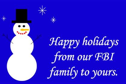 В сети посмеялись над сделанной в Paint рождественской открыткой ФБР