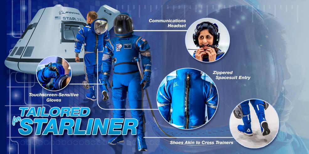 Boeing представила новые скафандры для экипажа космического аппарата Starliner