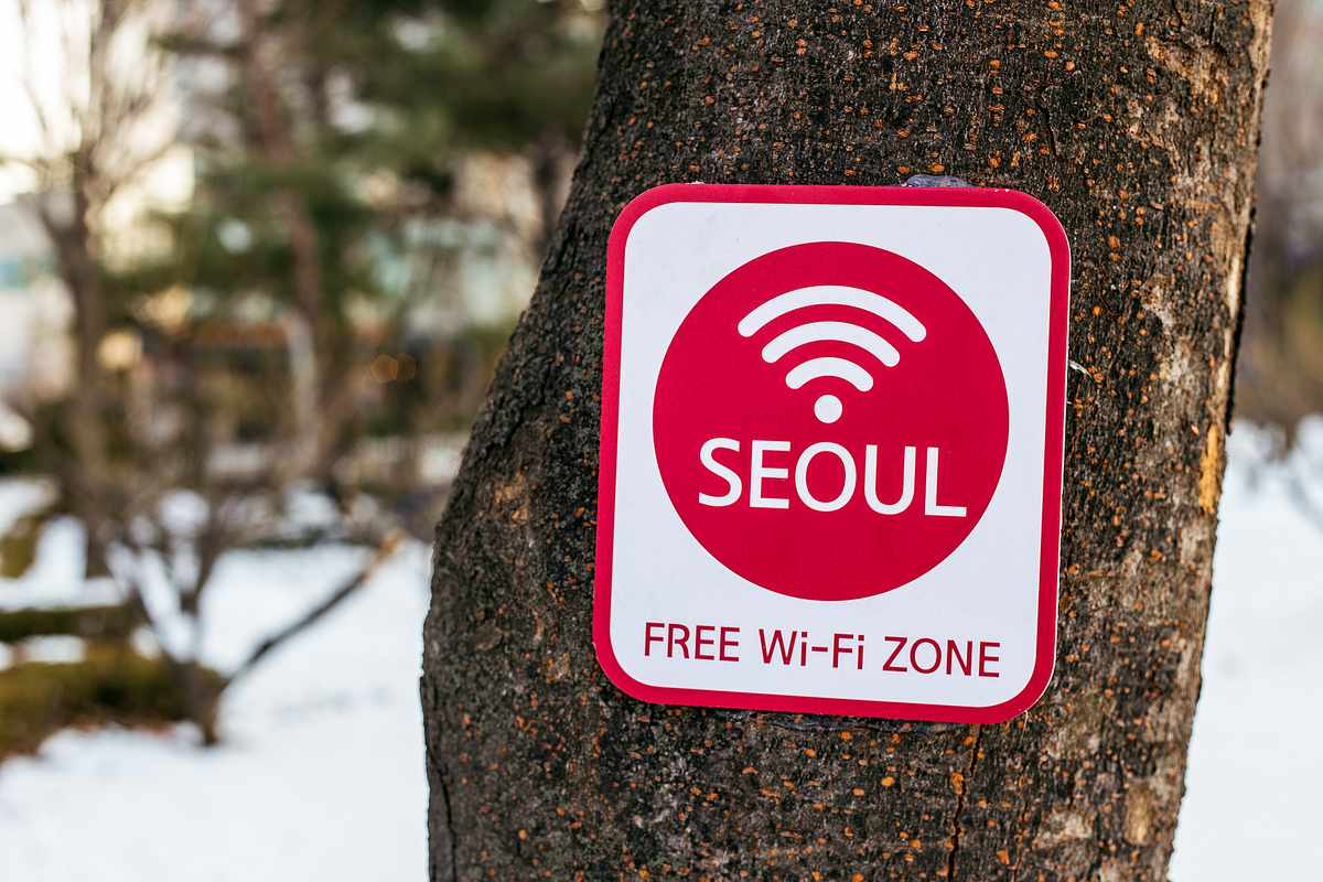 Бесплатный Wi-Fi не покрывает почти всю территорию Кореи