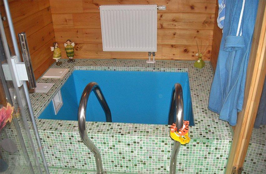 Бетонная купель в бане