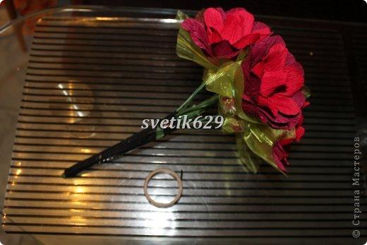 Мастер-класс Свит-дизайн Моделирование конструирование МК Сборка ручного букета № 1 Бумага гофрированная Бусинки Ленты фото 4