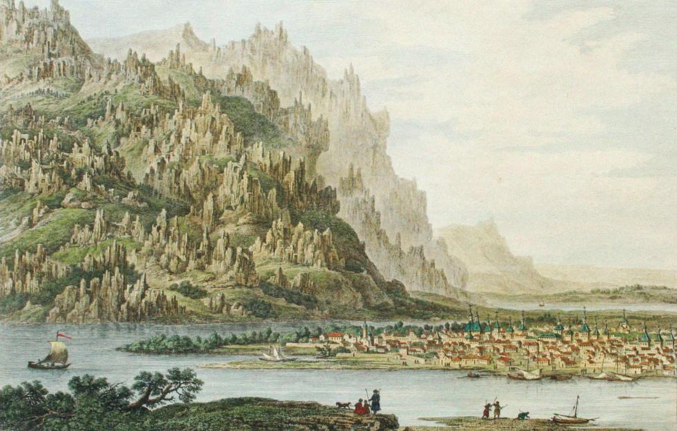 Вид Якутска. Гравюра Франсуа-Дени Нее