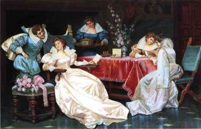 Галантный век на полотнах итальянского художника Pio Ricci