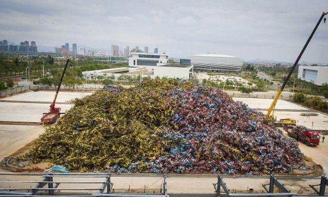 Гора велосипедов под Шанхаем