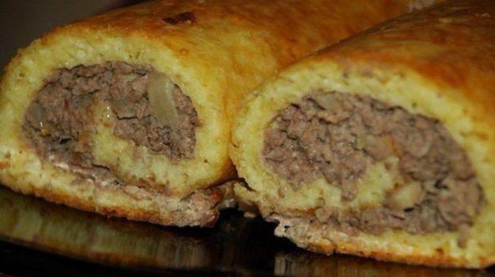 Аппетитный, ароматный и сытный сырно-мясной рулет к праздничному столу!