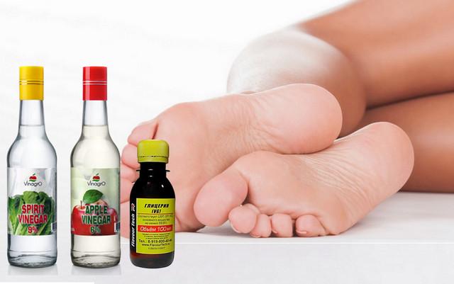 Глицерин и уксус для лица