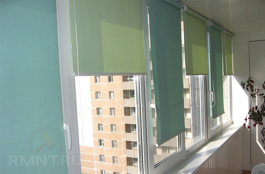 шторы рулонные на окна фото