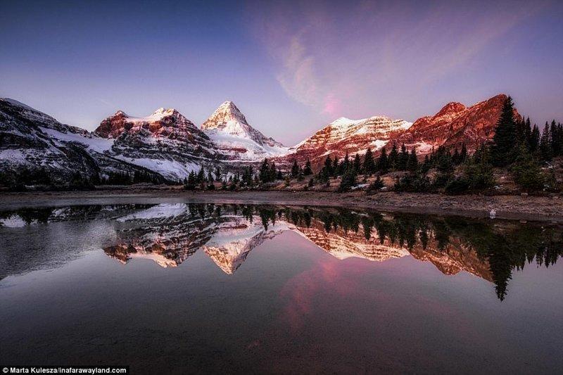 Гора Ассинибойн и озеро Магог, Канада в мире, красивые фото, красивый вид, пейзажи, природа, путешествия, фото, фотографы