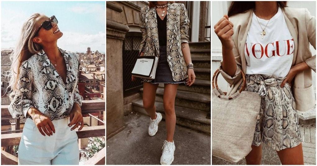 Змеиный принт — необычная модная тенденция, покорившая модниц