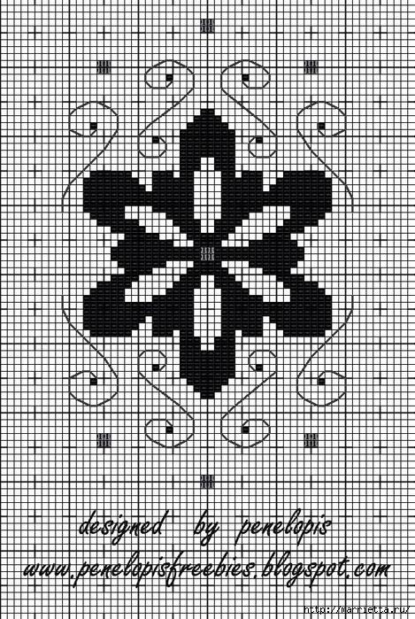 Винтажная вышивка. Схемы и идеи для вдохновения (83) (469x700, 389Kb)