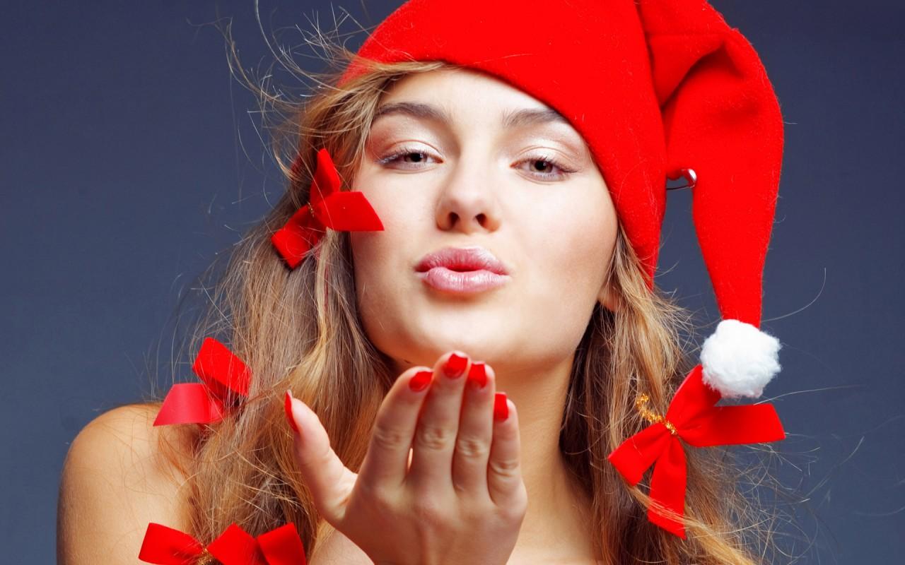 Картинки по запросу новогодние картинки девушек