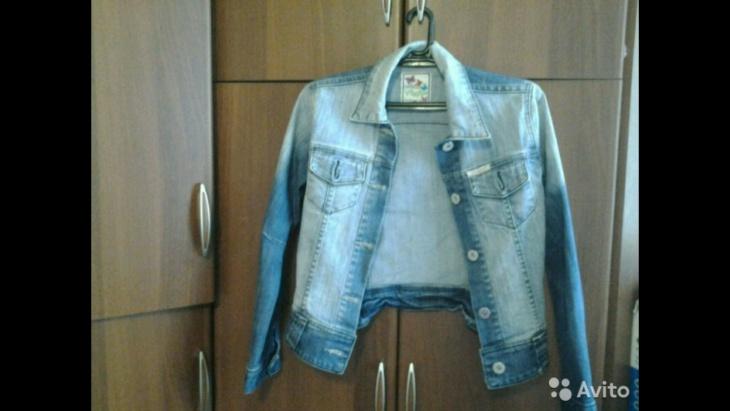 Куртка после губки с белизной