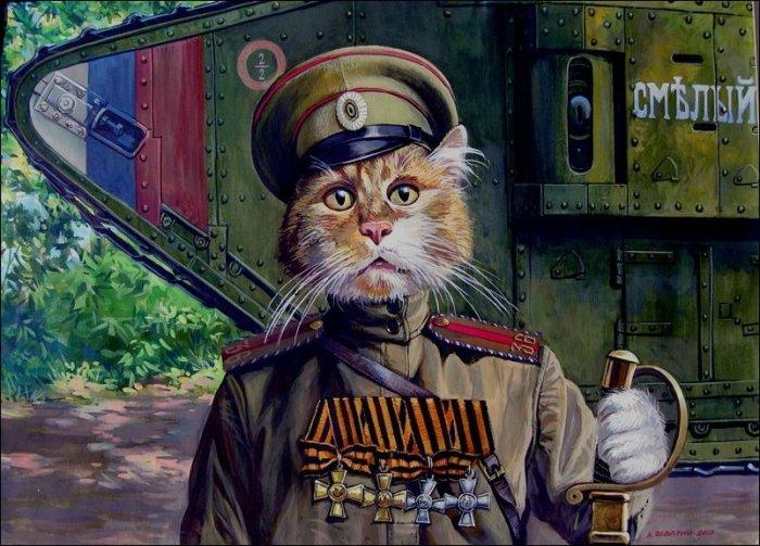 Эпические коты художника Александра Завалий