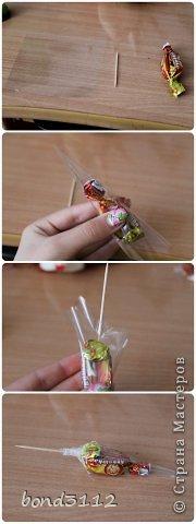 Мастер-класс Свит-дизайн День рождения Ёжик из конфет МК  фото 5
