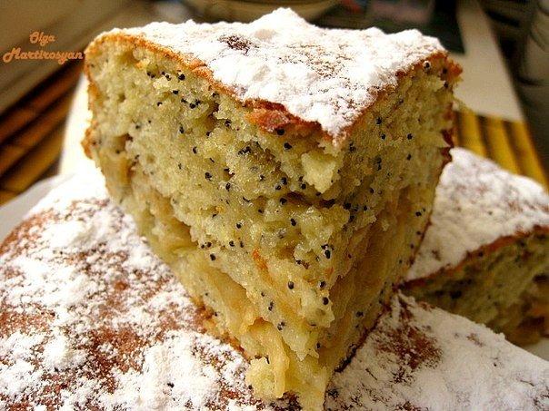 Очень вкусный яблочный пирог с маком