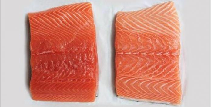 Перед тобой 2 куска лосося! Какой бы ты выбрал?