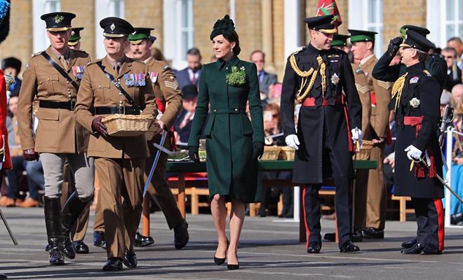 Кейт Миддлтон и принц Уильям появились на ежегодном параде в честь дня Святого Патрика