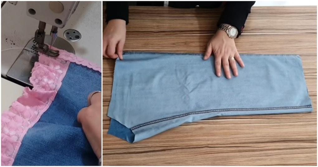 Красивый детский костюм всего из одной пары джинсов