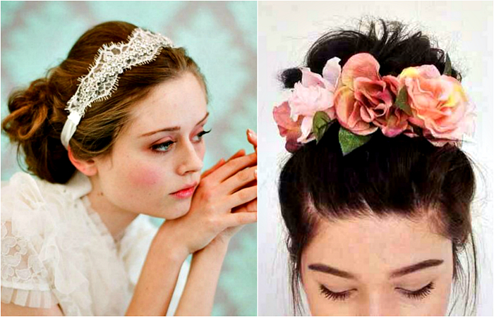 Модно и стильно — необычные украшения для волос своими руками