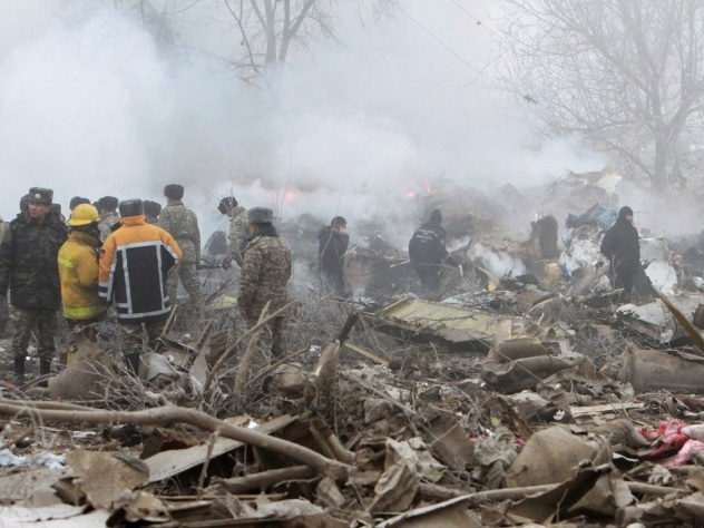 Спецслужбы установили палатки для пострадавших при крушении Boeing 747 под Бишкеком