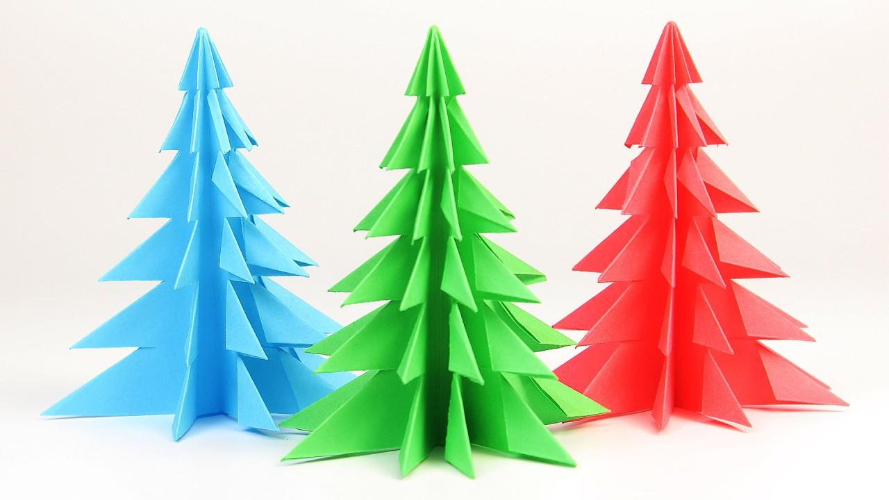 Красивая мини елка из бумаги