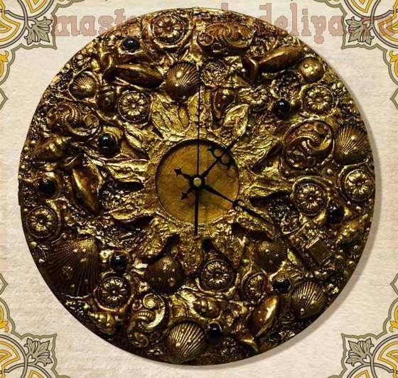 Мастер-класс по декорированию: Объемный декор часов и зеркала