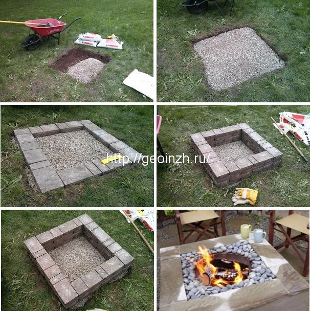 Как обустроить место под мангал на даче