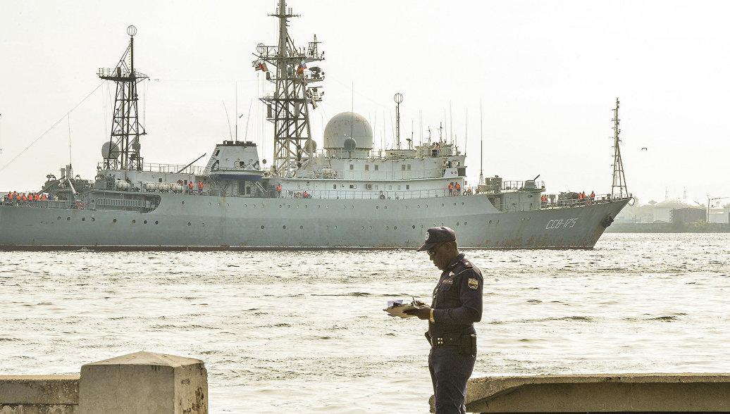 Разведкорабль ВМФ России замечен у базы подлодок ВМС США