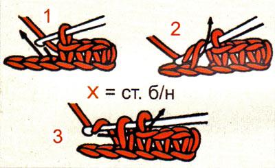 Вязания крючком для начинающих без накида