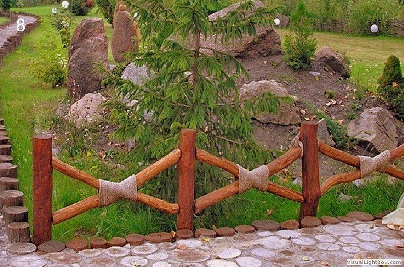 Деревянный маленький заборчик своими руками