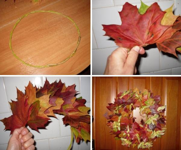 Новое венки из листьев своими руками пошагово для людей