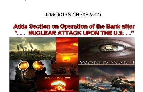 Значит WW3 уже скоро: Крупнейший мировой Банк вводит ЧРЕЗВЫЧАЙНЫЕ ПОЛНОМОЧИЯ на случай войны.