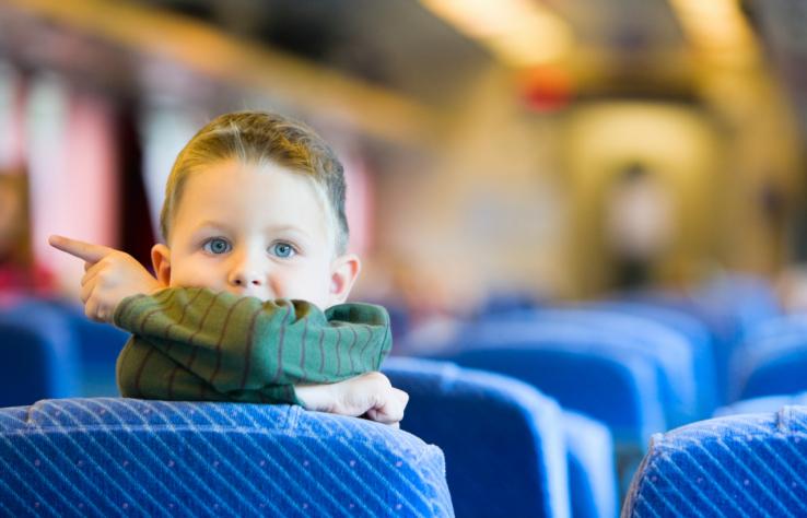 Едем с сыном (5 л ) на автобусе к родителям в гости