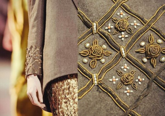 Goldwork, nice detail on the sleeve: