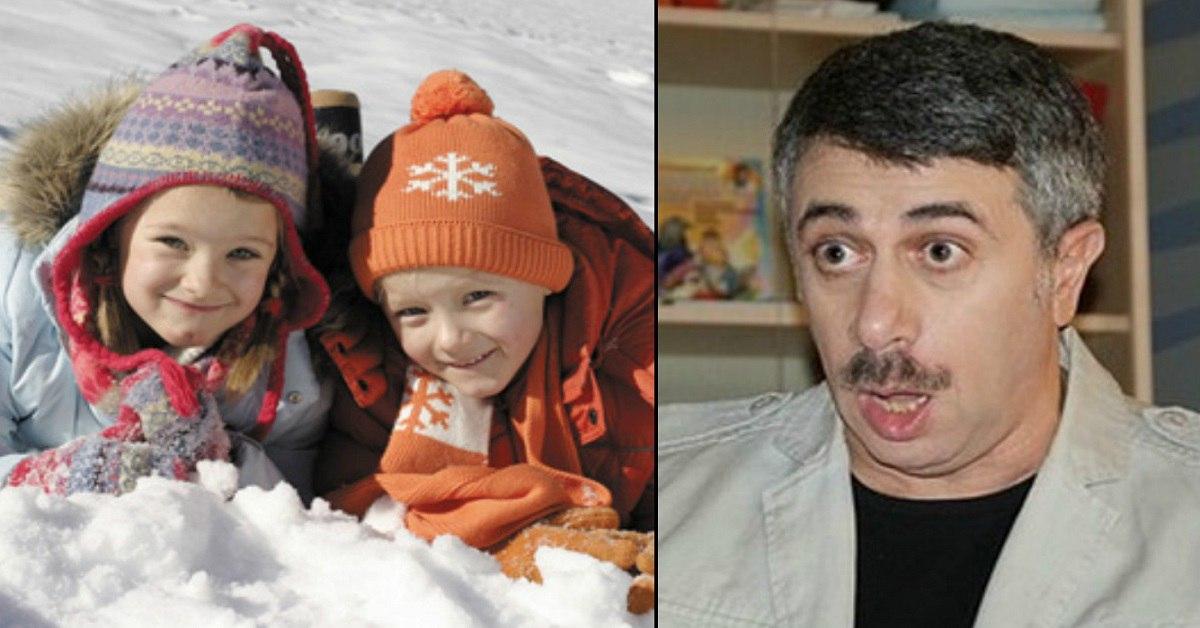 При какой температуре воздуха ребенку нужна шапка? Ответ всезнающего доктора Комаровского.