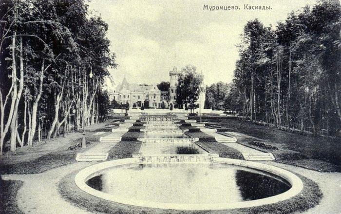 Серия открыток. Каскад прудов в парке.