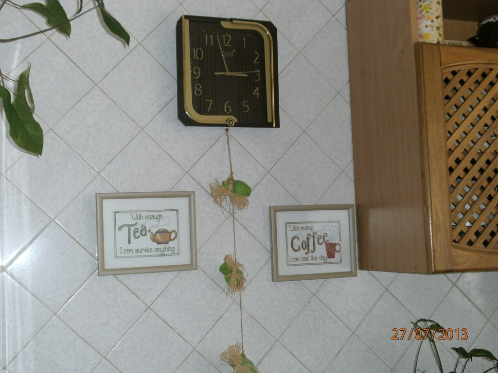 Вышивка в интерьер кухни