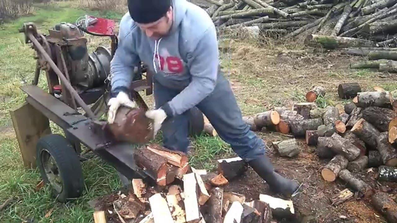 Самодельная машина для колки дров