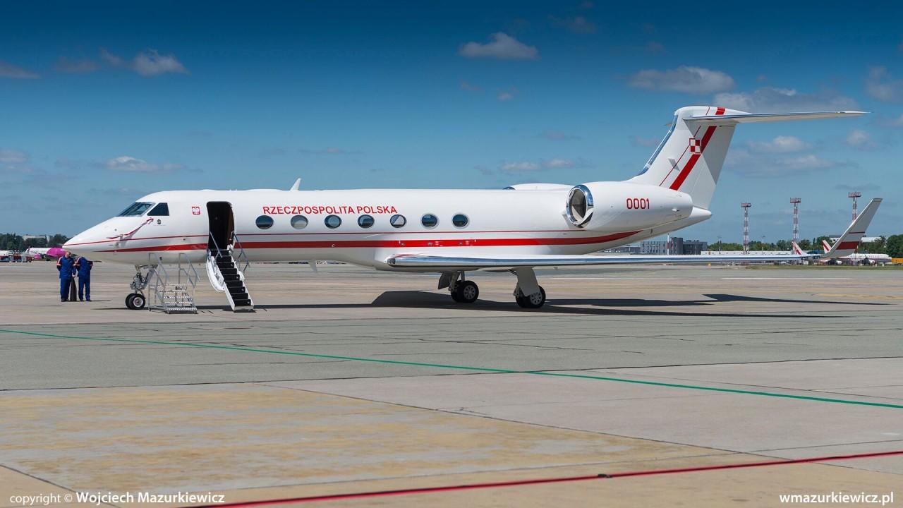 Польша получила первый самолет Gulfstream G550 для правительственных перевозок