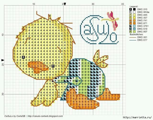 Малыши утята. Детская вышивка крестом (10) (640x502, 246Kb)
