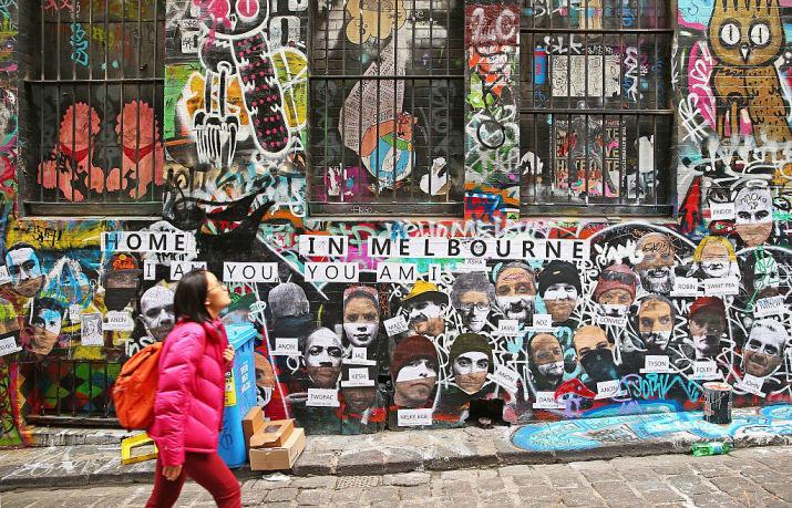 Впечатляющее уличное искусство, Мельбурн, Виктория австралия, доказательство, животные, мир, природа, туризм, фотография