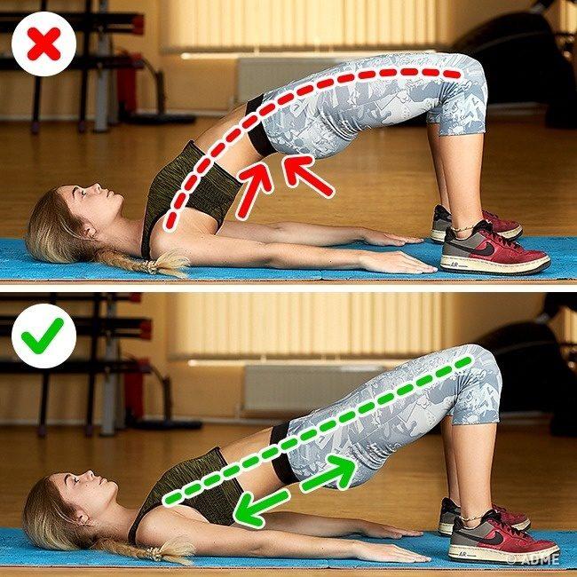 Ошибки в упражнениях, из-за которых вы не добьетесь результата