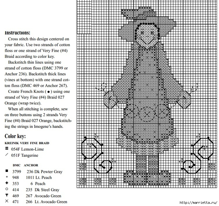 Винтажная вышивка. Схемы и идеи для вдохновения (65) (700x658, 483Kb)