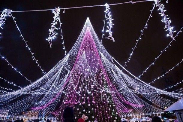 Рождественскую елку в Вильнюсе назвали самой красивой в Европе елка, красота, милота, новости, новый год, текст