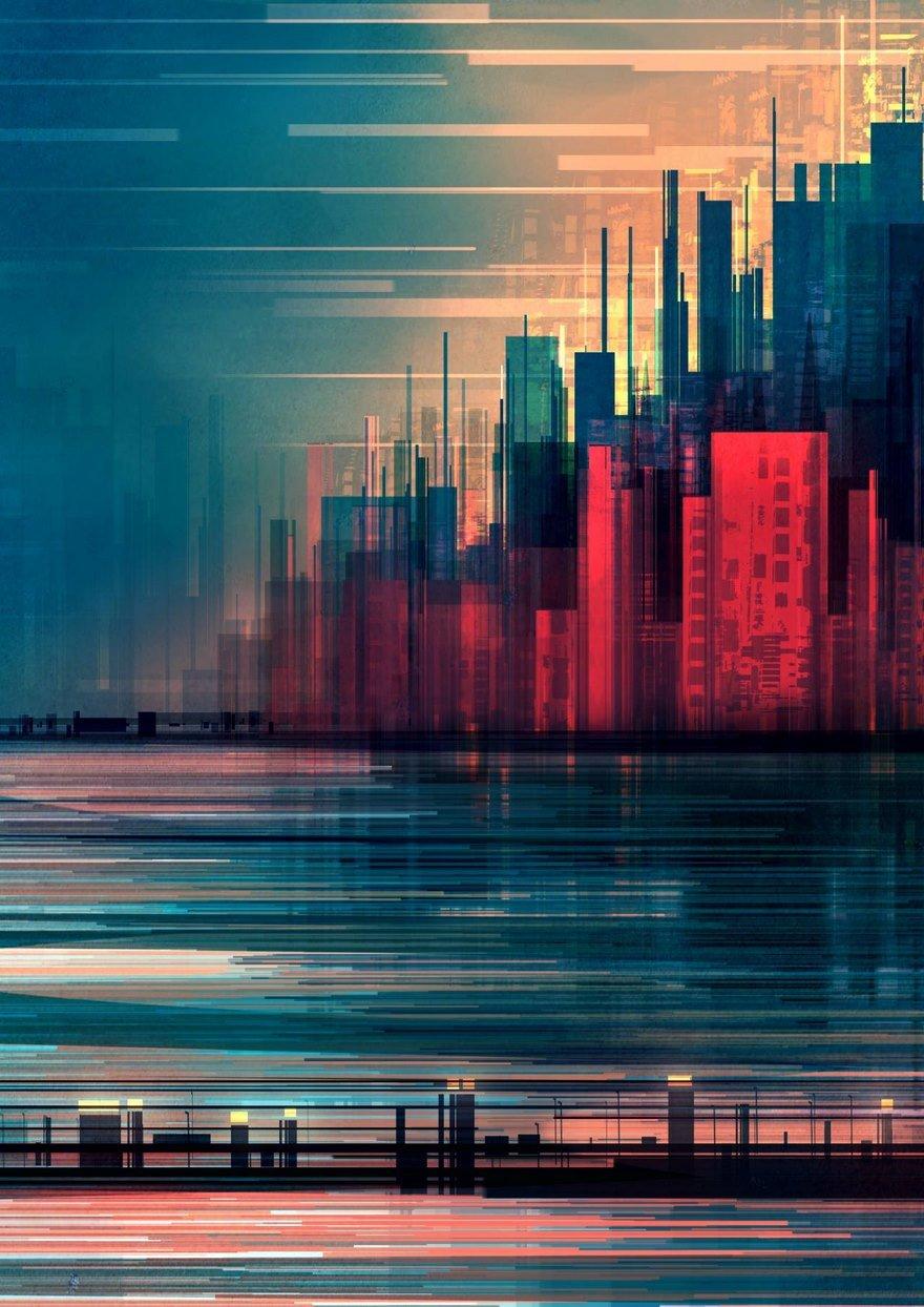 Геометрические городские пейзажи иллюстратора Скотта Уминга
