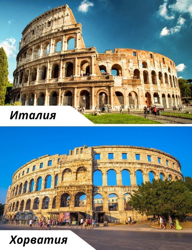 Туристический копипаст: 10 известных достопримечательностей и их копии
