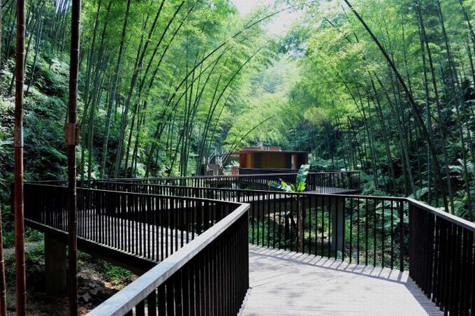 Поражающий парк для отдыха в Китае