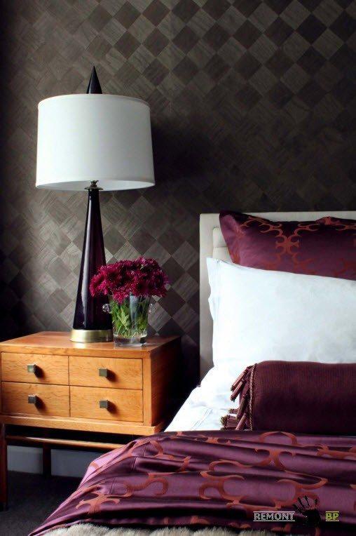 Текстильные обои для интерьера спальни